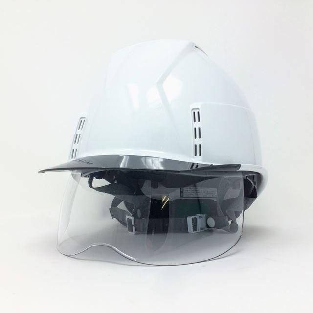 スミハット KKXCS-A 横長コンパクトシールド面付き 作業用 ヘルメット(通気孔付き/圧縮エアーシート)/ 工事用 建設用 建築用 現場用 高所用 安全 保護帽|proshophamada|03