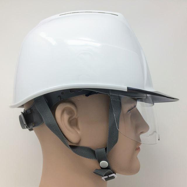スミハット KKXCS-A 横長コンパクトシールド面付き 作業用 ヘルメット(通気孔付き/圧縮エアーシート)/ 工事用 建設用 建築用 現場用 高所用 安全 保護帽|proshophamada|07