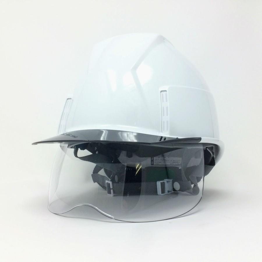 スミハット KKXS-A 横長コンパクトシールド面付き 作業用 ヘルメット(通気孔なし/圧縮エアーシート)/ 工事用 建設用 建築用 現場用 高所用 安全 電気設備工事|proshophamada