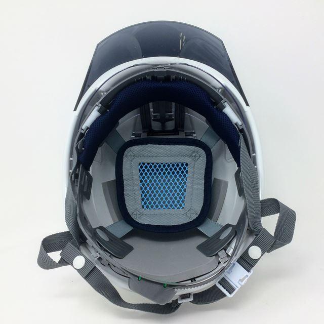 スミハット KKXS-A-NCOOL Nクール 横長コンパクトシールド面付き 遮熱ヘルメット(通気孔なし/圧縮エアシート)/ 工事 作業 建設 建築 現場 高所 電気設備工事|proshophamada|05