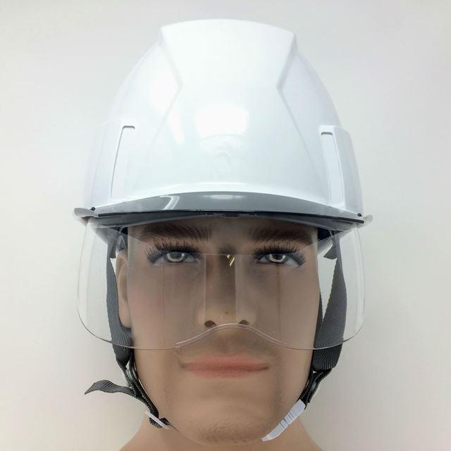 スミハット KKXS-A-NCOOL Nクール 横長コンパクトシールド面付き 遮熱ヘルメット(通気孔なし/圧縮エアシート)/ 工事 作業 建設 建築 現場 高所 電気設備工事|proshophamada|06