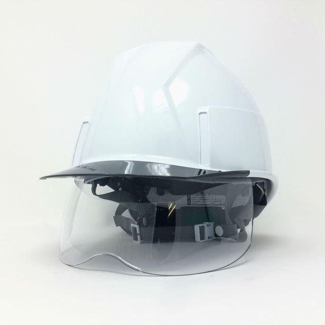 スミハット KKXS-A 横長コンパクトシールド面付き 作業用 ヘルメット(通気孔なし/圧縮エアーシート)/ 工事用 建設用 建築用 現場用 高所用 安全 電気設備工事|proshophamada|02