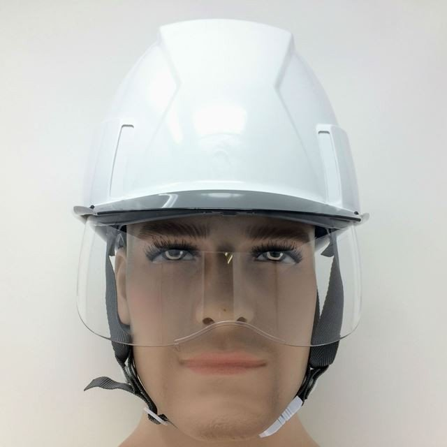 スミハット KKXS-A 横長コンパクトシールド面付き 作業用 ヘルメット(通気孔なし/圧縮エアーシート)/ 工事用 建設用 建築用 現場用 高所用 安全 電気設備工事|proshophamada|05