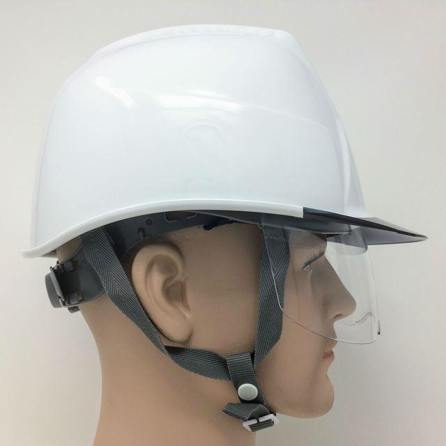 スミハット KKXS-A 横長コンパクトシールド面付き 作業用 ヘルメット(通気孔なし/圧縮エアーシート)/ 工事用 建設用 建築用 現場用 高所用 安全 電気設備工事|proshophamada|06