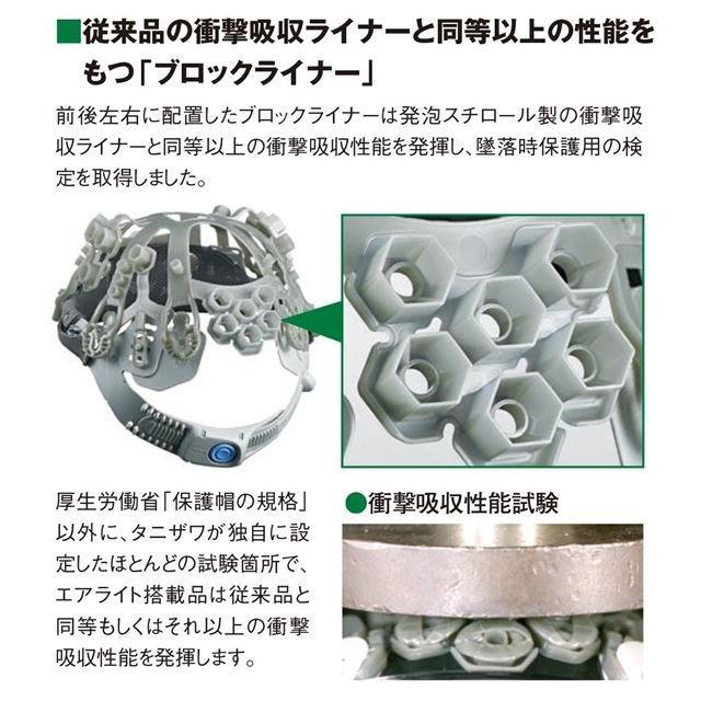 谷沢製作所 タニザワ ST#141-JZV エアライト 涼しい 透明ひさし ヘルメット(通気孔なし/ブロックライナー)/ 工事 作業 建設 建築 現場 安全 電気設備工事|proshophamada|05