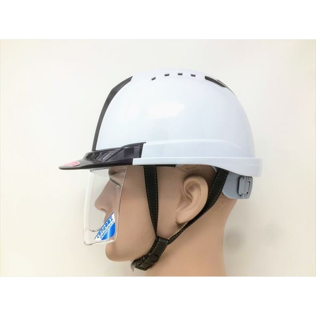 トーヨーセーフティー No.391F ワイドシールド面付き 作業用 ヘルメット Venti plus(通気孔付き/ライナー入り)/ 安全 工事 建設 建築 現場 高所 保護帽|proshophamada|12