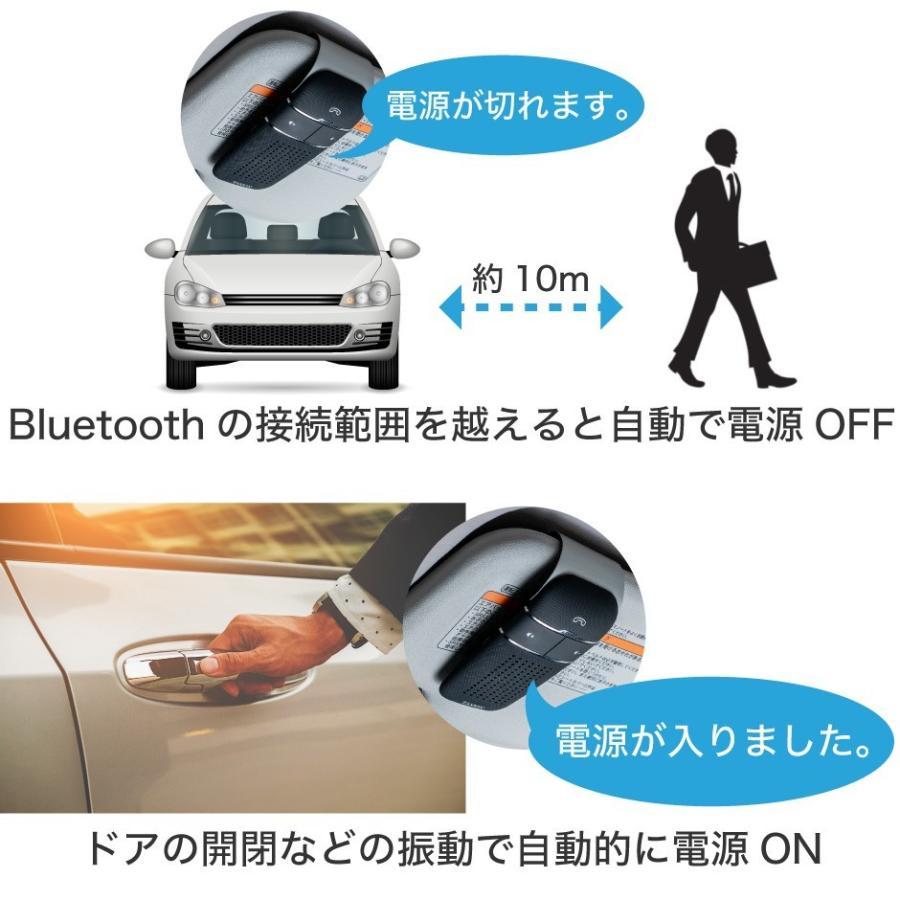 車載用 自動車用 ハンズフリー プロ仕様 通話 スピーカー フォン 車 スマホ bluetooth4.1 車載用品 車中泊 グッズ FMトランスミッター 併用可|protection|14