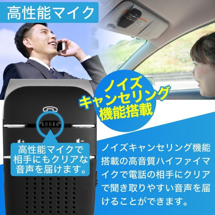 車載用 自動車用 ハンズフリー プロ仕様 通話 スピーカー フォン 車 スマホ bluetooth4.1 車載用品 車中泊 グッズ FMトランスミッター 併用可|protection|07