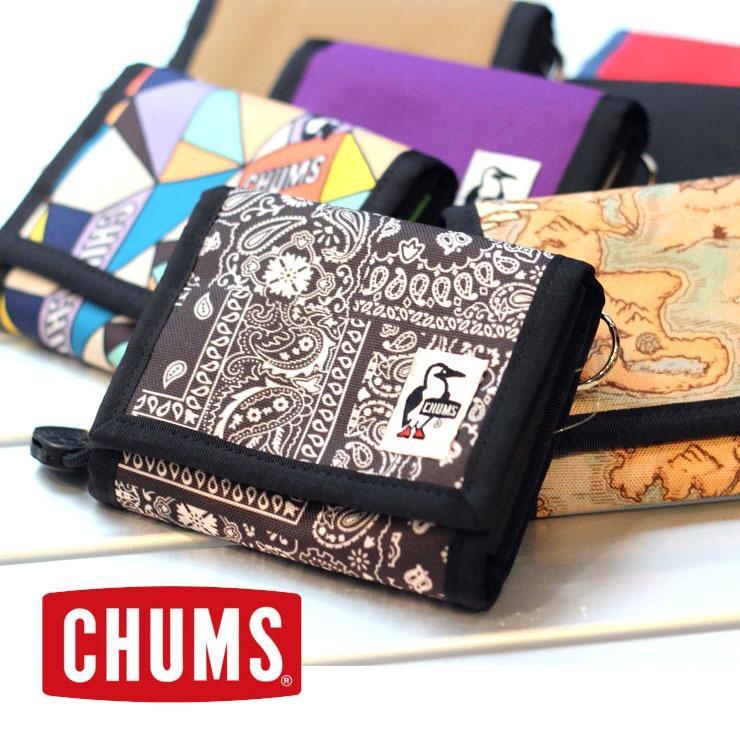 チャムス 財布 二つ折り CHUMS リサイクルマルチウォレット ウォレット CH60-3141 カード ケース ポケット 鍵 財布 定期|protocol