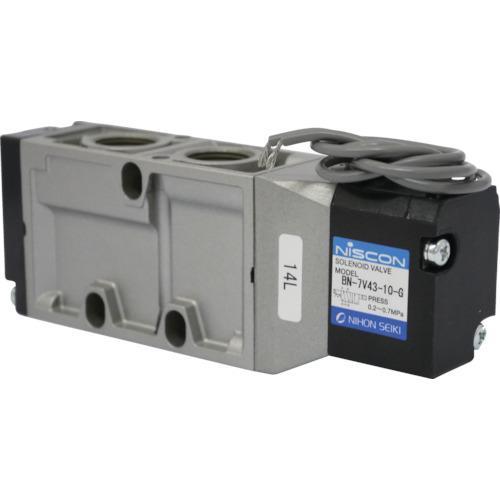 日本精器 4方向電磁弁10AAC100Vグロメット7Vシリーズシングル(BN-7V43-10-G-E100)