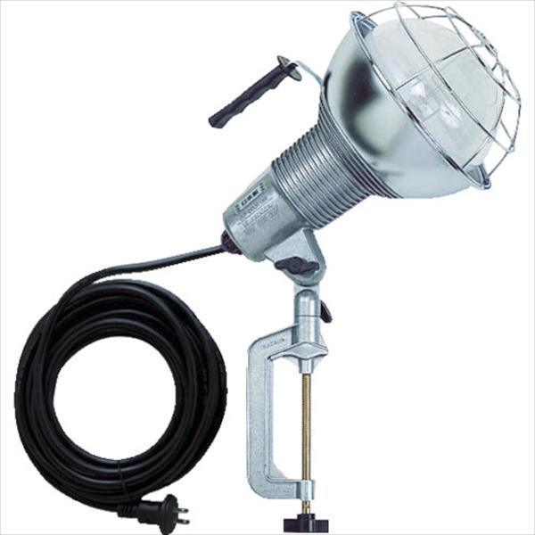 ハタヤリミテッド 防雨型水銀作業灯 バラストレス水銀ランプ500W 100V5m バイス付(RGM-505)
