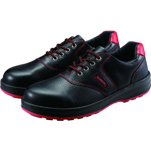 シモン 安全靴 短靴 SL11−R黒/赤 23.5cm(SL11R-23.5)