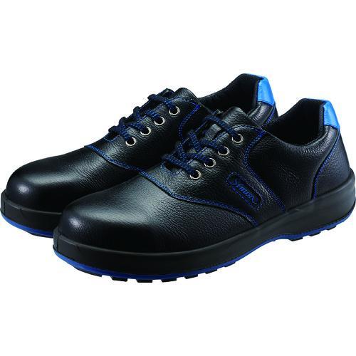シモン 安全靴 短靴 SL11−BL黒/ブルー 25.5cm(SL11BL-25.5)
