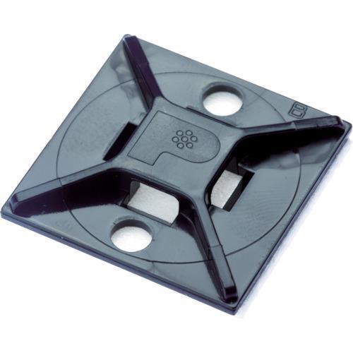 パンドウイットコーポレーション マウントベース アクリル系粘着テープ付き 耐候性黒(ABM2S-AT-D0)