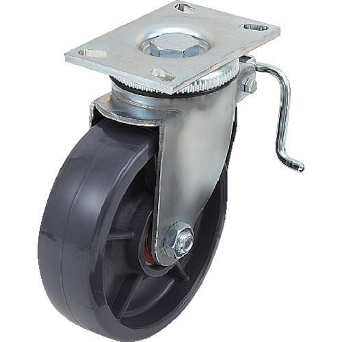 スガツネ工業 重量用キャスター径203自在ブレーキ付SE(200ー133ー372(SUG-8-808B-PSE)