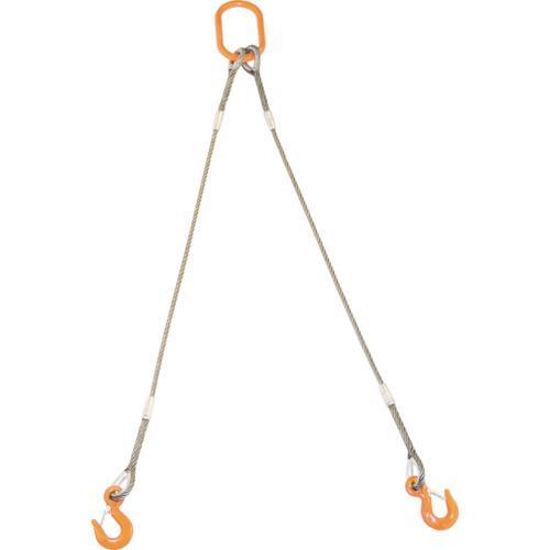 トラスコ中山 TRUSCO 2本吊りWスリング 2本吊りWスリング 2本吊りWスリング フック付き 9mmX2m(GRE-2P-9S2) c9a