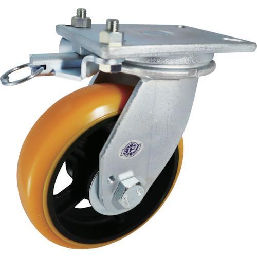 ヨドノ 重量用高硬度ウレタン自在車250φ旋回ロック付 (SDUJ250TL)