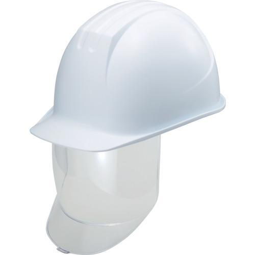 谷沢製作所 タニザワ 大型シールド面付ヘルメット 溝付 ホワイト (0162-SD-W8-J)