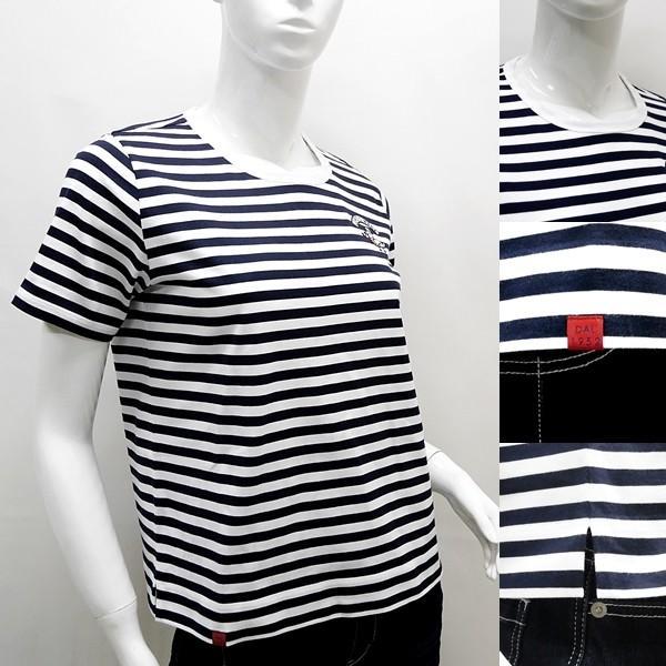 シナコバレディース アウトレット ¥15000+税[F] 半袖 Tシャツ マリンボーダー バスクシャツスタイル 20221023      sc KNs l 20180530|proud|03