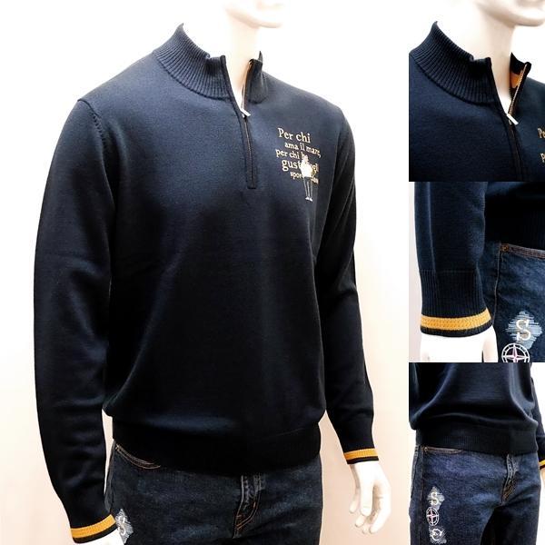 シナコバ [L] セーター ウール メンズ  ゴルフ タウンウェア フロントアイコニック ハイゲージウールニット SINACOVA 21906029  sc KTf m 21222030|proud|03