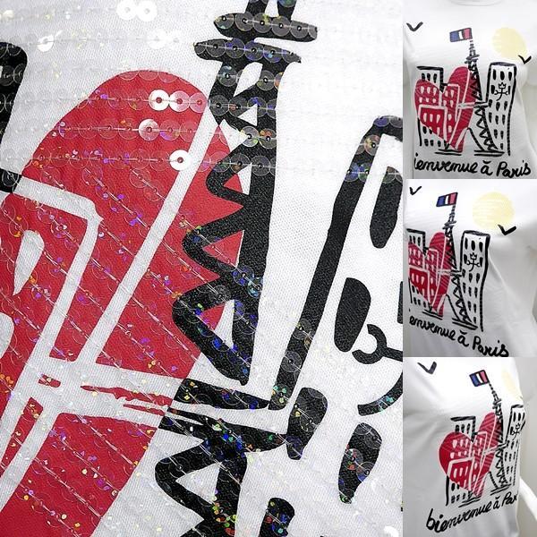 カステルバジャック レディース アウトレット ¥20000+税 [9号/40]半袖 Tシャツ 煌めきフロントビュー ポップアートデザイン 90203033   jcTCsl 22070|proud|05
