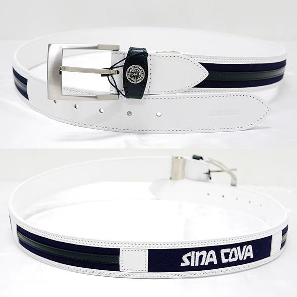 シナコバ ¥18000+税 [F]ベルト メンズ 牛革コンビ ロゴ刺繍デザイン 90901011              scTCfm 19276040|proud|02