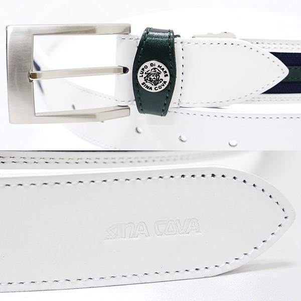 シナコバ ¥18000+税 [F]ベルト メンズ 牛革コンビ ロゴ刺繍デザイン 90901011              scTCfm 19276040|proud|03