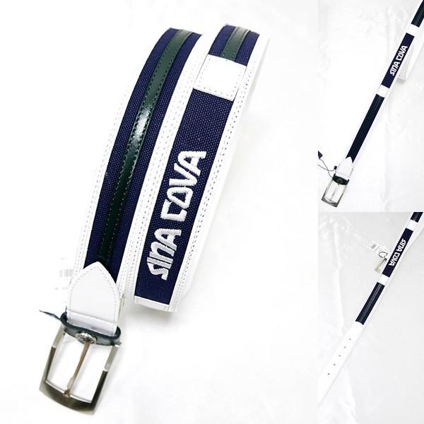 シナコバ ¥18000+税 [F]ベルト メンズ 牛革コンビ ロゴ刺繍デザイン 90901011              scTCfm 19276040|proud|05