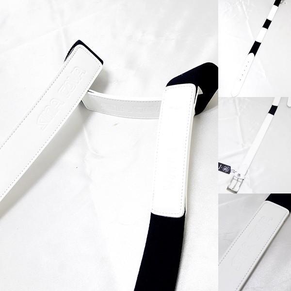 シナコバアウトレット ¥16000+税 [F]ストレッチ ベルト メンズ 牛革コンビ ロゴプレスデザイン 90901012               scTCfm 19276010|proud|05