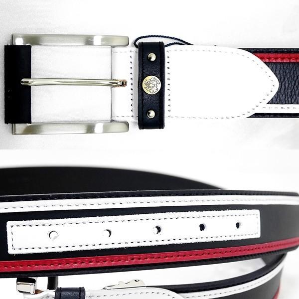 シナコバ ¥19000+税 [F]牛革 レザー ベルト メンズ ロゴプレスレザーパッチワーク 90901039               scTCfm 19276060|proud|03
