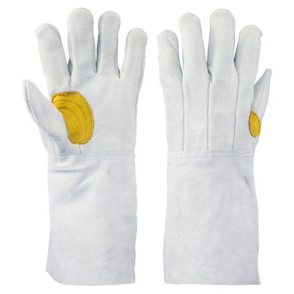 まとめ買い特価 牛床革手袋 吟当付 5本指 内縫 溶接:8711-7Y 60双/箱 (送料無料)