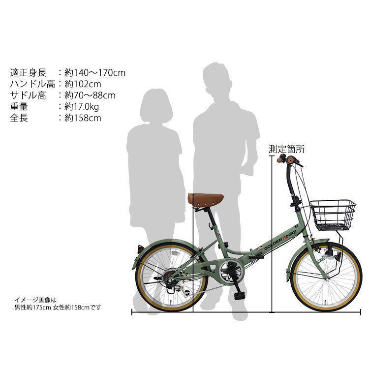 折りたたみ自転車 ミニベロ 20インチ 6段変速 GOLDEN ROCKY GOLDEN-ROCKY206 provocatio 11