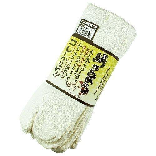 【3足組80組セット】おたふく手袋 ソックス 絹のちから タビ型 S-285 (オフホワイト) 適合サイズ(cm):25·27 品質:綿·絹·ポリエステル·ポリウレタン