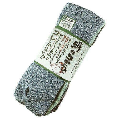 【3足組80組セット】おたふく手袋 ソックス 絹のちから タビ型 S-287 (モク柄)適合サイズ(cm):25·27 品質:綿·絹·ポリエステル·ポリウレタン
