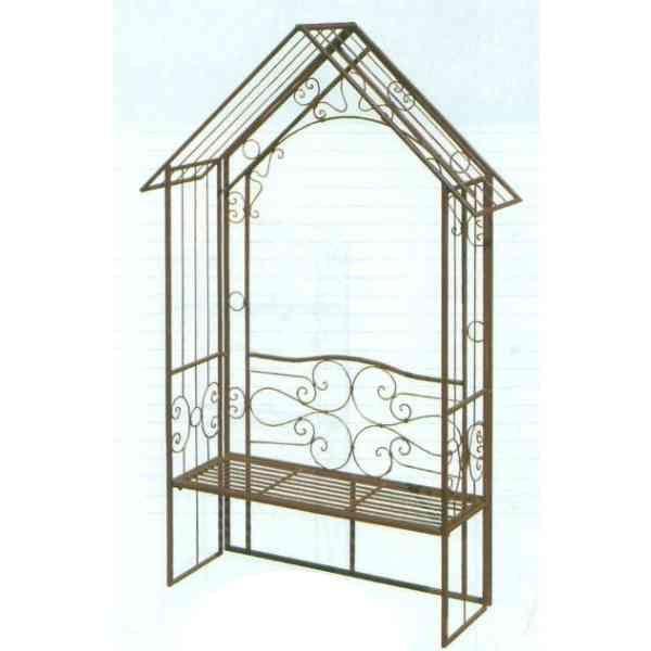 【送料無料】 GARDEN COLLECTION 【85721】 ガーデンアーチ ベンチ付 1450×2390×460mm 31.0kg 鉄製