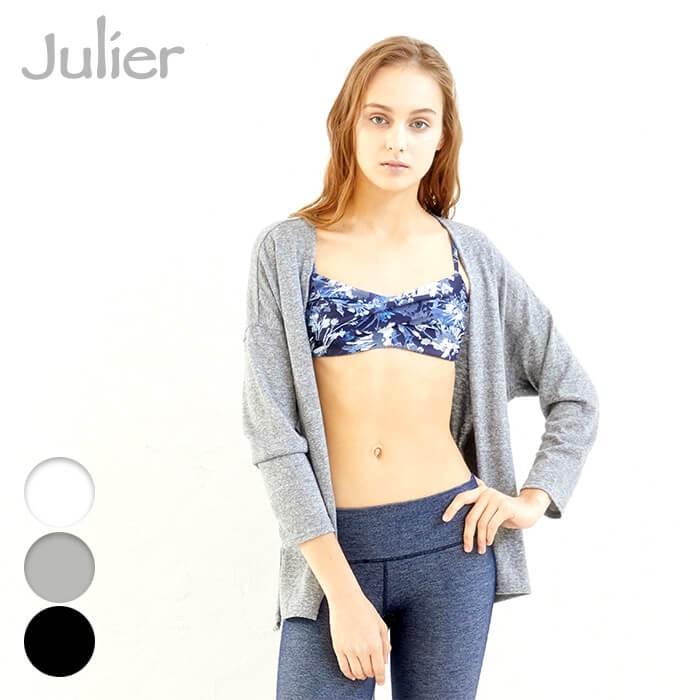 【セール SALE】 Julier ジュリエ ヨガウェア トップス ロイヤルシフォン天竺ショートカーディガン ヨガ ピラティス ウェア おしゃれ