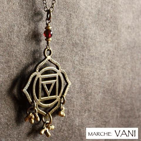 VANI ネックレス チャクラ muladhara マラ ヨガ アクセサリー 天然石 ルドラクシャ 瞑想 psps