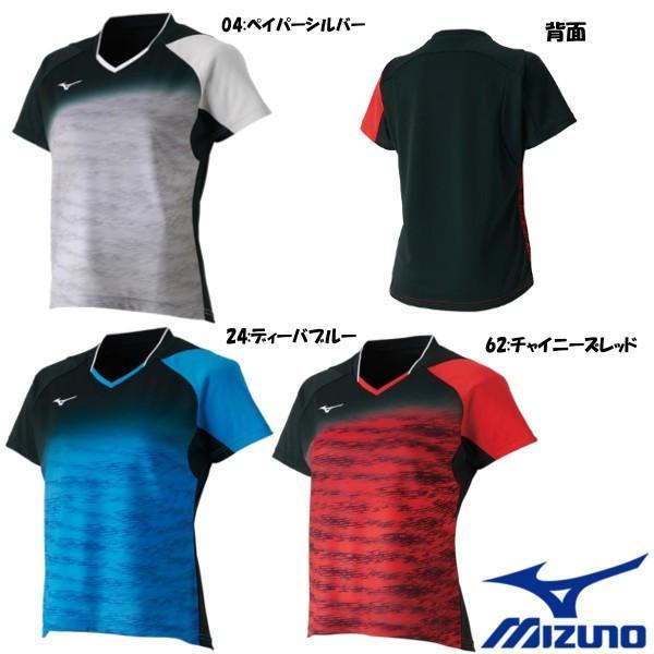 送料無料◆MIZUNO◆2018年8月発売◆レディース ゲームシャツ 62JA8708  テニス バドミントン ウェア ミズノ