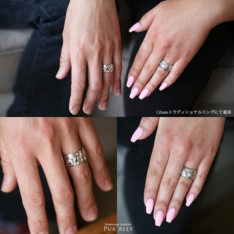 【K14 バレル 12mm幅 1.5mm厚【トラディショナル】オーダーリング】ハワイアンジュエリー プアアリ 結婚指輪 マリッジ 鍛造18金 ゴールド 手彫り 誕生石 刻印|puaally|05