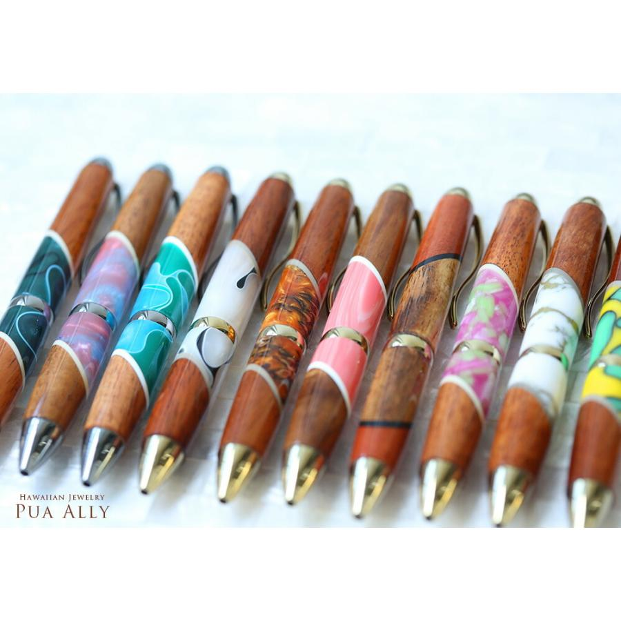【ハワイアン コアウッド セレニティー ボールペン】 木製  女性 高級ボールペン ブランド おしゃれ ハンドメイド 就職祝い プレゼント お祝い 母の日 還暦祝い|puaally|10