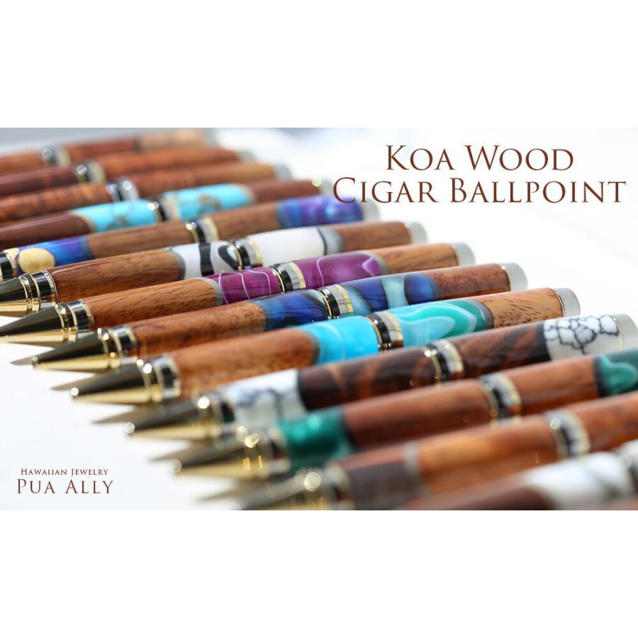 【ハワイアン コアウッド シガー ボールペン】 木製 メンズ 男性 高級ボールペン 人気 ブランド おしゃれ 就職祝い プレゼント お祝い 父の日 還暦 送別会|puaally|16