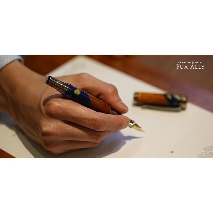 【ハワイアン コアウッド 万年筆】 木製 メンズ 男性 女性 高級万年筆 高級ボールペン ブランド おしゃれ プレゼント お祝い 父の日 母の日 還暦祝い|puaally|07