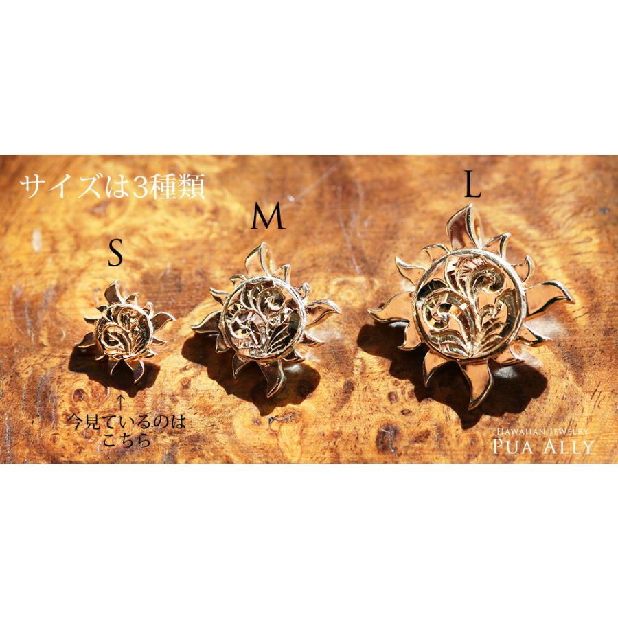 【K14 サン ( 太陽 ) ネックレス S 】 14金 ハワイアンジュエリー ハワジュ Hawaiian jewelry Puaally プアアリ レディース メンズ ペア La ラー ヘリックス|puaally|11