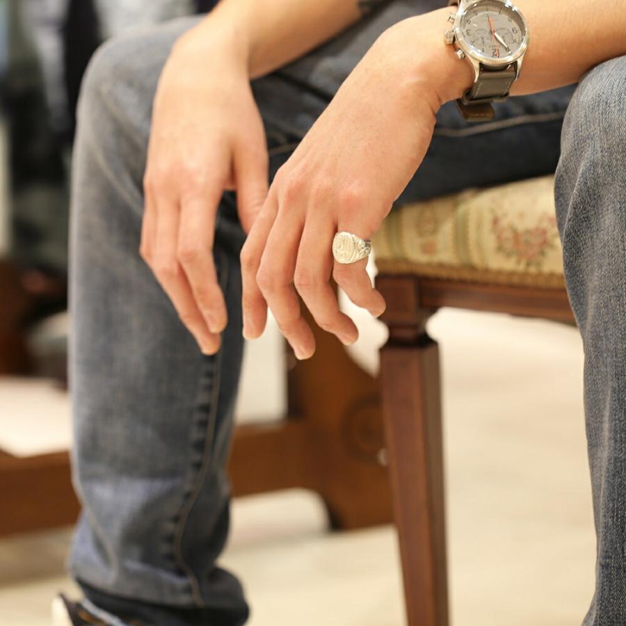 【K18 ハワイアン デュークカハナモク リング 】Hawaiian jewelry Puaally 手彫り 指輪  18金 サーフィン プレゼント メンズ サーフ 海 ピンキーリング|puaally|03