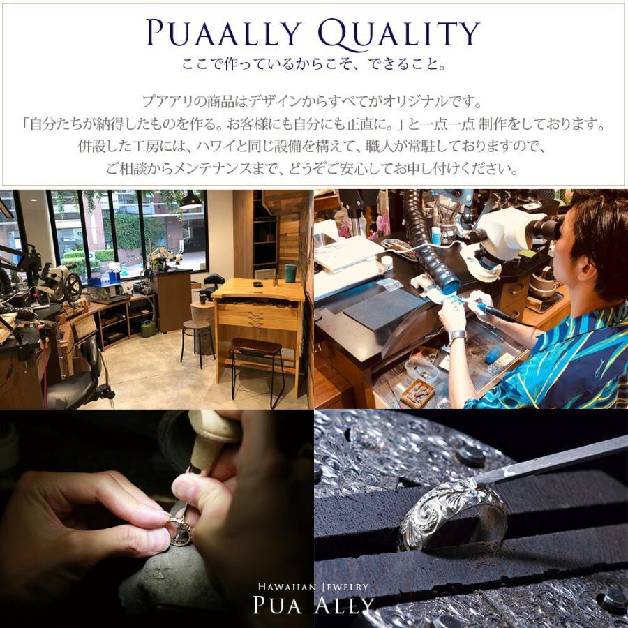 【K18 ハワイアン デュークカハナモク リング 】Hawaiian jewelry Puaally 手彫り 指輪  18金 サーフィン プレゼント メンズ サーフ 海 ピンキーリング|puaally|04