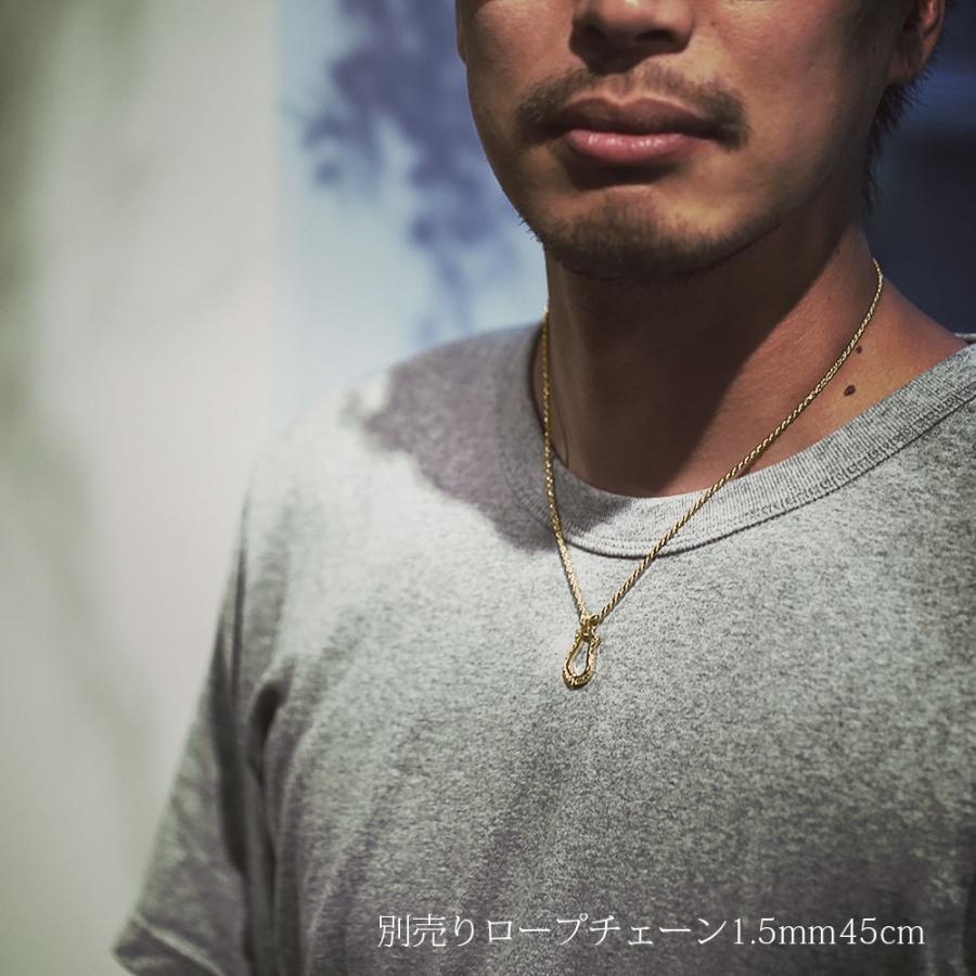 【K14YG  ホースシュー(馬蹄) ペンダントトップ M 】14金 ゴールド チェーン別売り 人気 プレゼント おすすめハワイアンジュエリー メンズ Hawaiian jewelry|puaally|06
