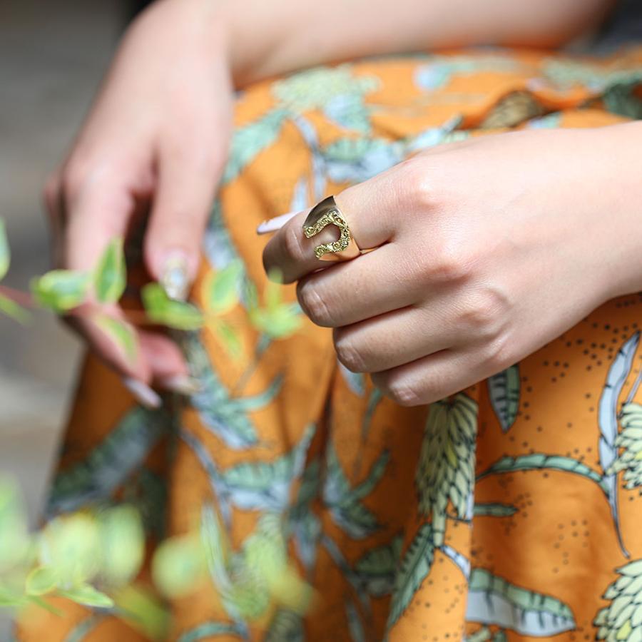 【K18 ハワイアン ホースシューリング 馬蹄】18金 Hawaiian jewelry 手彫り 指輪 ネイティブ メンズ 男性 サーフィン 海 ピンキーリング セレブ ラッキー puaally 10