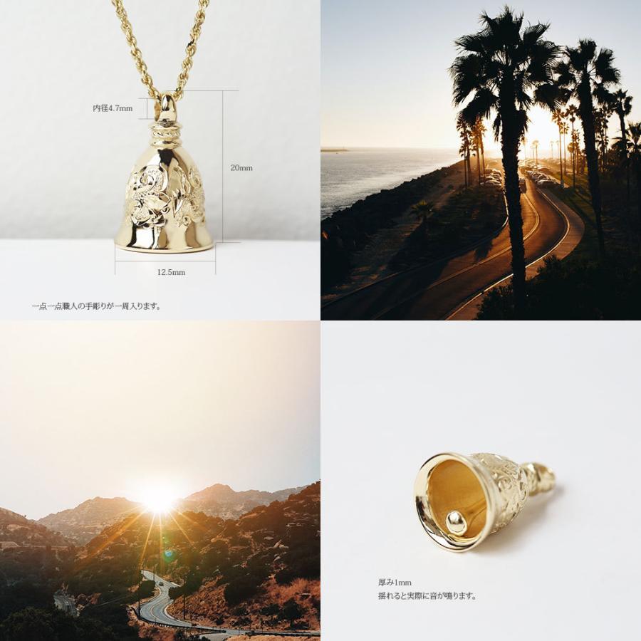 【K14 ベル (鐘) ペンダントトップ】 チェーン別売り14金 ハワイアンジュエリー ハワジュ Hawaiian jewelry メンズ ペア ガーディアンベル イエロー ゴールド puaally 07