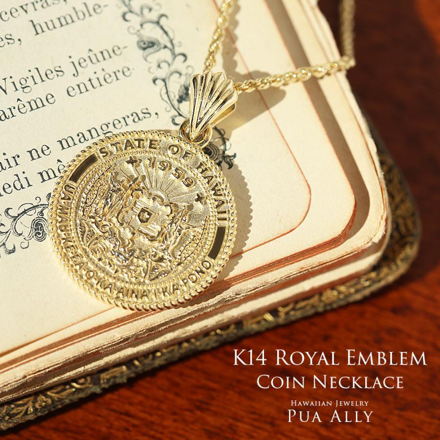 K14YG ロイヤルエンブレムコイン ネックレス