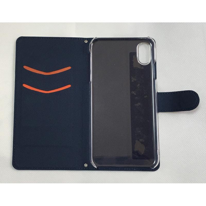 iphoneケース スタンドにもなる片面手帳型 かわいいパグ(フォーン&黒パグ)(ぱぐ グッズ)|pugbiiki|08
